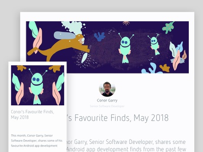 Conor's Favourite Finds, May 2018 marino apps app development favourites illustration design software android development android