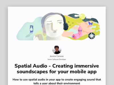 Creating immersive soundscapes for your mobile app wayfinding vr ar arvr soundscapes mobile app marino software illustration digital design software development sound design spatial audio audio