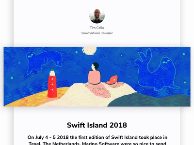 Swift Island 2018 machine learning arkit siri swift wwdc arvr app developers software developers marino software texel conference netherlands swift island