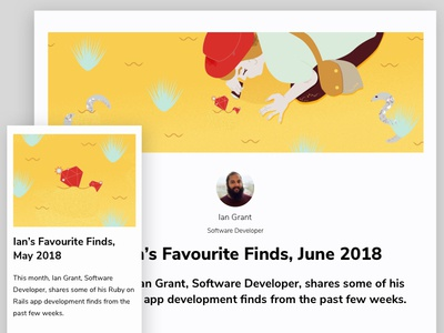 Ian's Favourite Finds ruby on rails ruby marino software app development illustration software development
