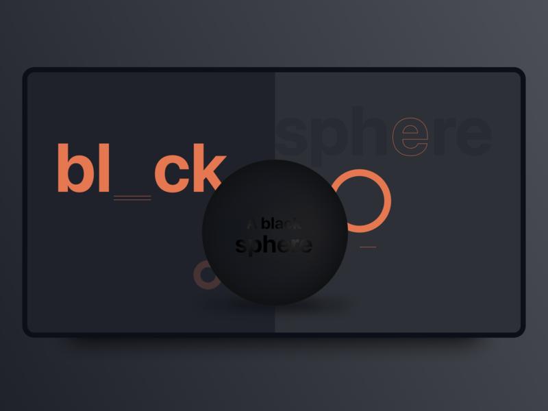 Black Sphere - Create 3D object in Figma figma design landingpage web design exploration explore ui abstract illustration illustration 3d abstract