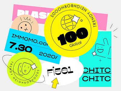Social culture 1 typography branding illustration app design ui
