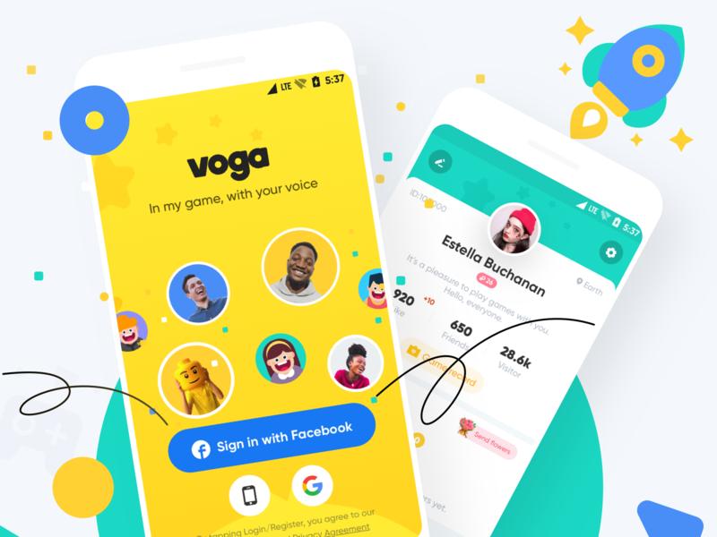 Voga Brand vision 2 illustration design ui