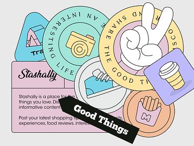 Stashally 1 branding illustration app design