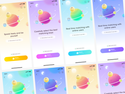 Planet matching illustration ux design ui