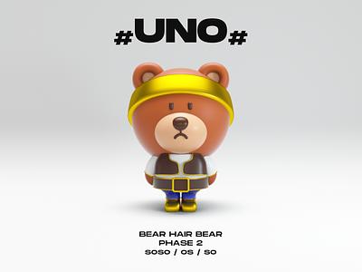C4D UNO bear c4d