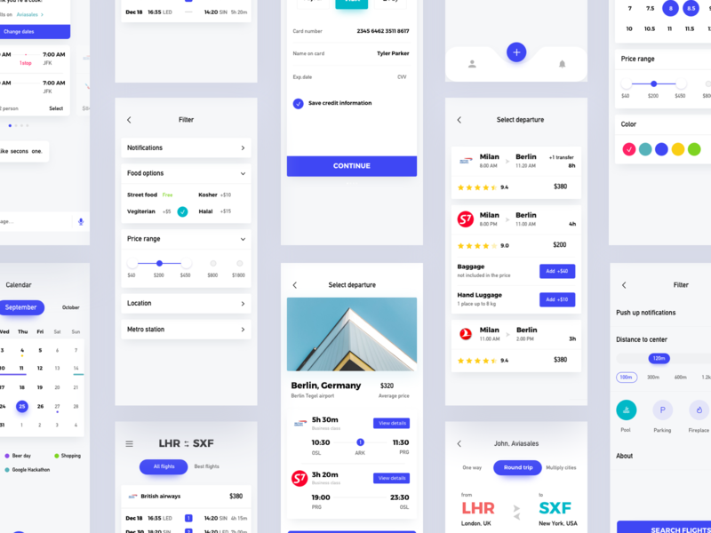 Airline Ticket Reservation Interface app ux ui