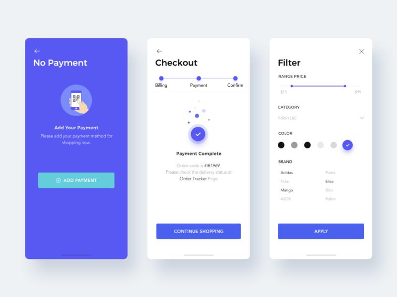 Ecommerce App app design ux ui