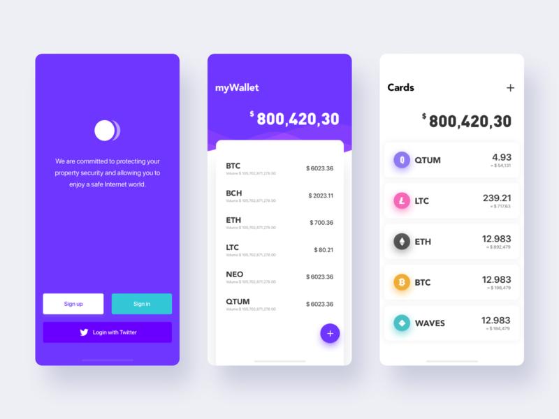 Finance App app ux ui