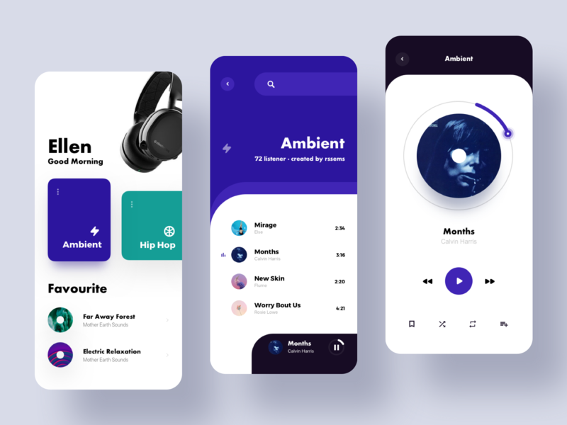 Music Player 1 app design ux ui