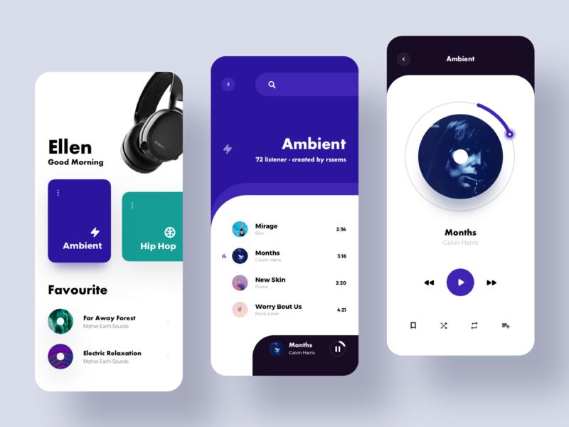 Music Player 1 app design ux ui