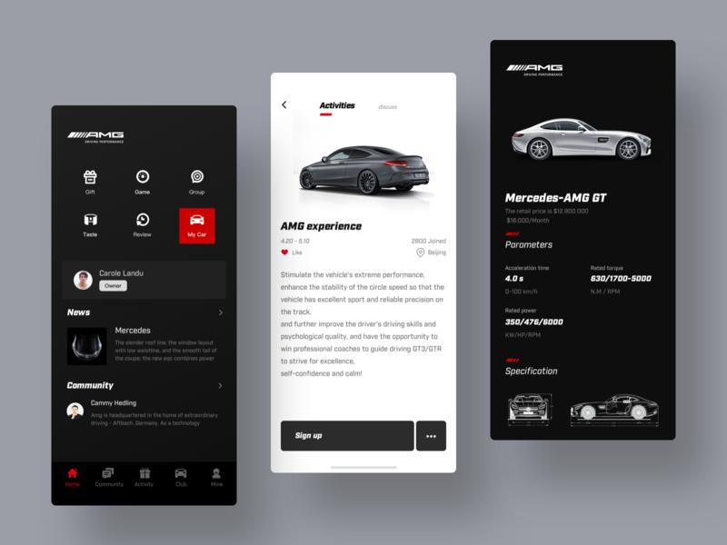 Mercedes-Benz AMG app team design ux ui
