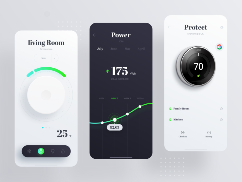 Google Nest Learning Thermostat team design ui