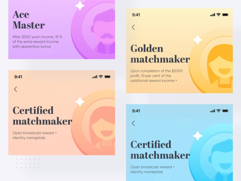 Blind Date App Component branding illustration design ui