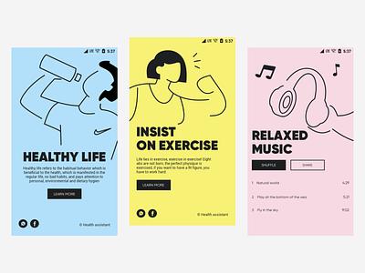 Health guide2 branding illustration team app ux design ui