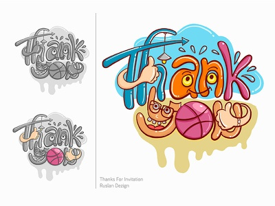 """Thank you"", Lettering Illustration Vector thank you vector illustration letter"