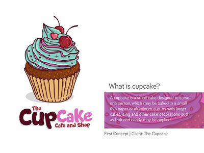 The Cupcake Logo | First Concept illustration hand drawn concept cupcake logo
