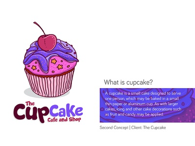 The Cupcake Logo | Second Concept illustration hand drawn logo cupcake