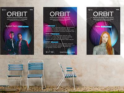 Orbit Music Festival photoshop indesign design advertising space circle illustrator branding light colour music festival festival music