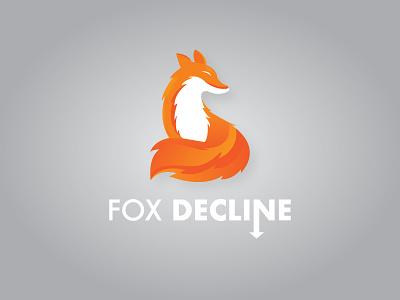Fox Decline orange logo design fox animal logo branding