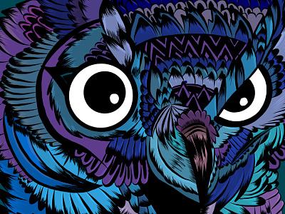 Owl adobe draw ipad eyes paint colour owl animal drawing illustration