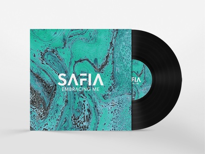 Safia Album concept abstract colour marble disc vinyl record cover music album