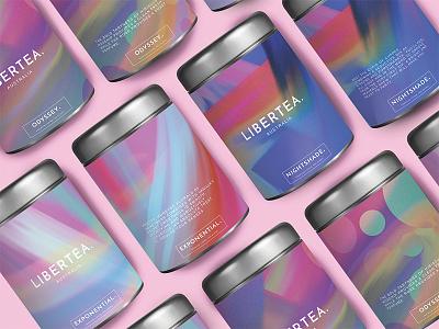 Libertea procreate ipad paint colour branding packaging light tea