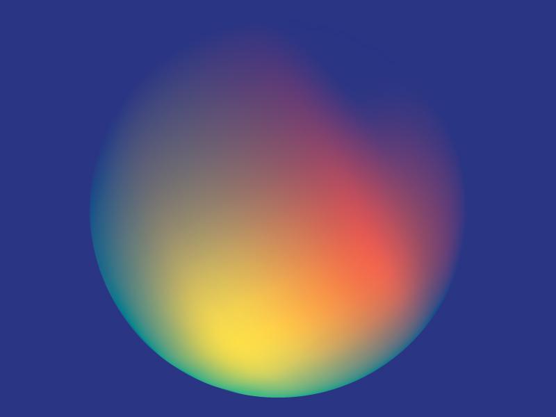Colour Exploration #2 red illustrator blue green pink light sphere circle exploration experiment gradient colour