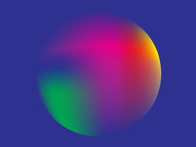 Colour Exploration #3 red orange green yellow blue pink circle illustrator gradient colour