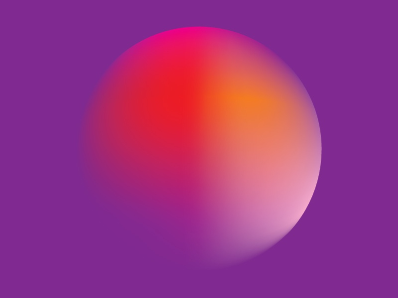 Colour Exploration #5 red orange green yellow pink circle illustrator gradient colour