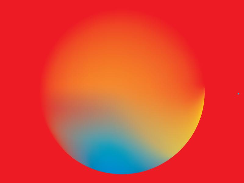 Colour Exploration #6 shades blue yellow orange red circle illustrator gradient colour