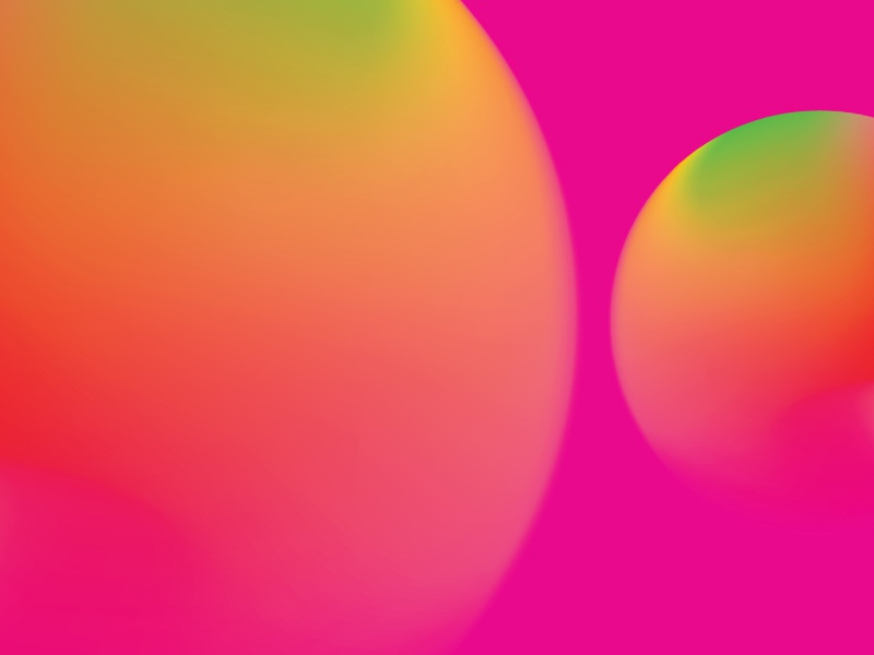 Colour Exploration #9 light red magenta green yellow orange pink circle illustrator gradient colour