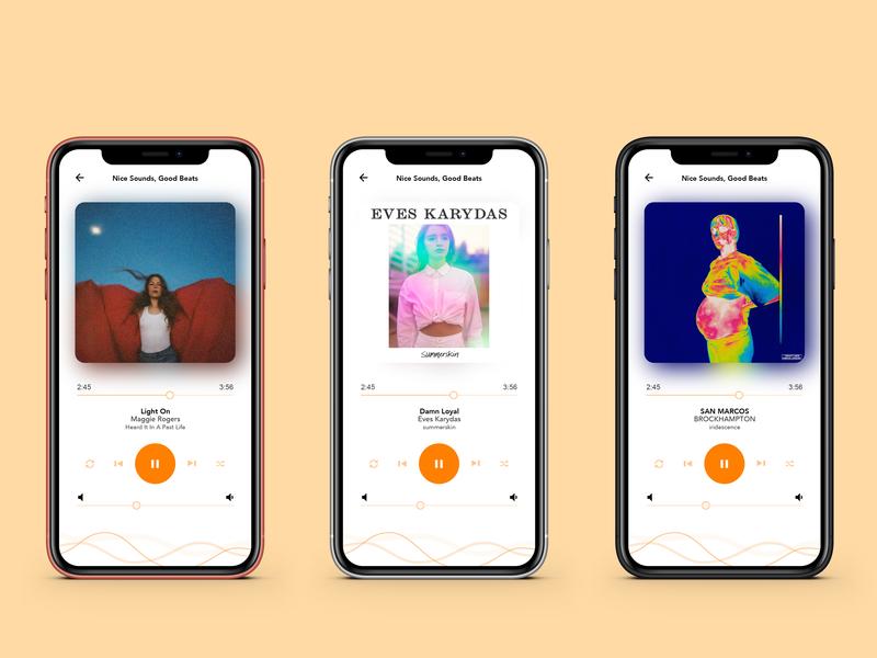 Music Player / Day 09 apple ui app ui 100 ui  ux uxui design colour light adobe xd ios music design app design app music player music uidesign dailyui