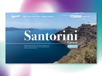Santorini Landing Page
