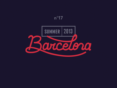 Barcelona lettering summer