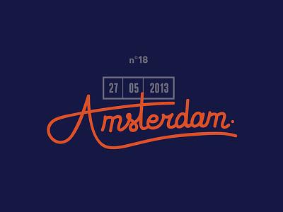 Amsterdam typo type custom amsterdam
