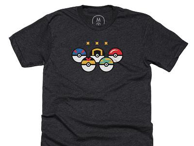 True olympic summer game tshirt pokeball safariball superball masterball olympic pokemon