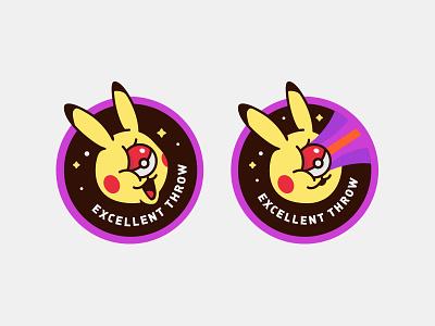 Excellent Throw pokemongo pikachu pokeball badge pokemon