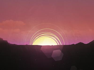 Sunrise illustration sunrise sun flare