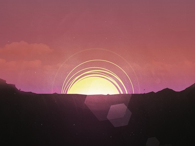 Sunrise illustration sunrise sun flare