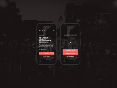 Black Lives Matter Tribute (Mobile) minimalist pexels black lives matter mobile ui mobile ui design sketch