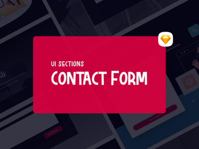 Contact Forms UI Sections user experience free user interface sections contact form minimalist form ux hero ui design sketch