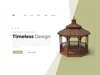 Timeless Design redesign redesign user interface ux branding hero landing page ui design sketch