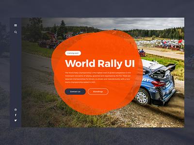 World Rally Landing Page UI wrc ux rally branding hero landing page ui design sketch