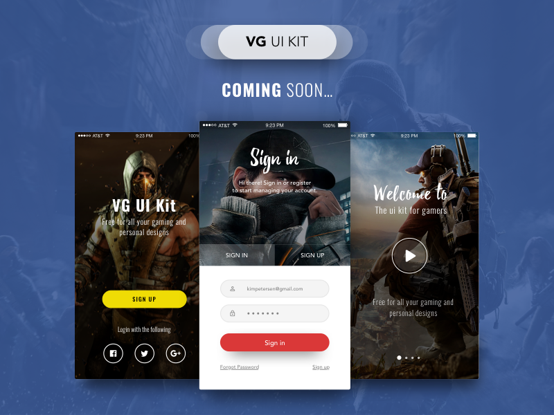 VG UI Kit by KimPetersen on Dribbble