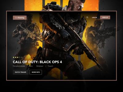 Gaming Hero Landing Page