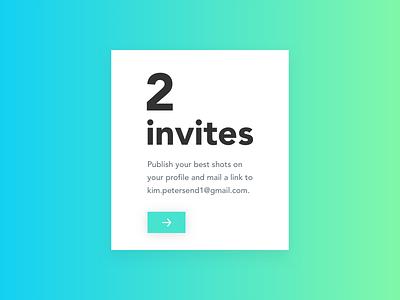 Two Dribbble Invites shots publish sketch design invitation draft dribbble invite
