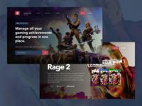 Gaming Dashboard Landing Pages