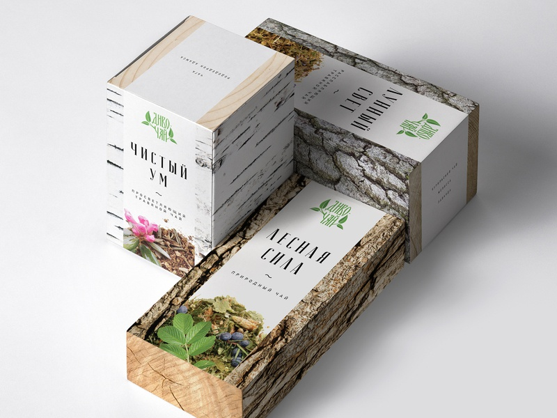Диво - Чай packaging design packagingdesign packaging tea эко дизайн упаковка чай