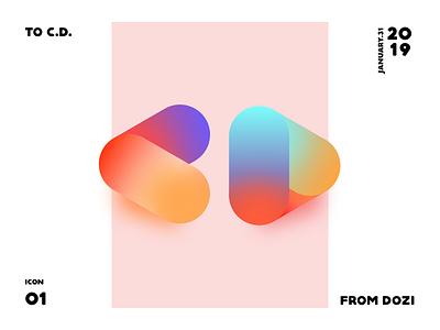 GIT icon github identity sketch branding logo illustration